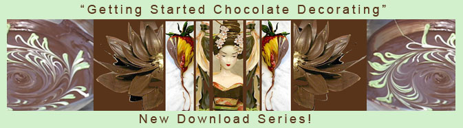 chocolate decorations banner
